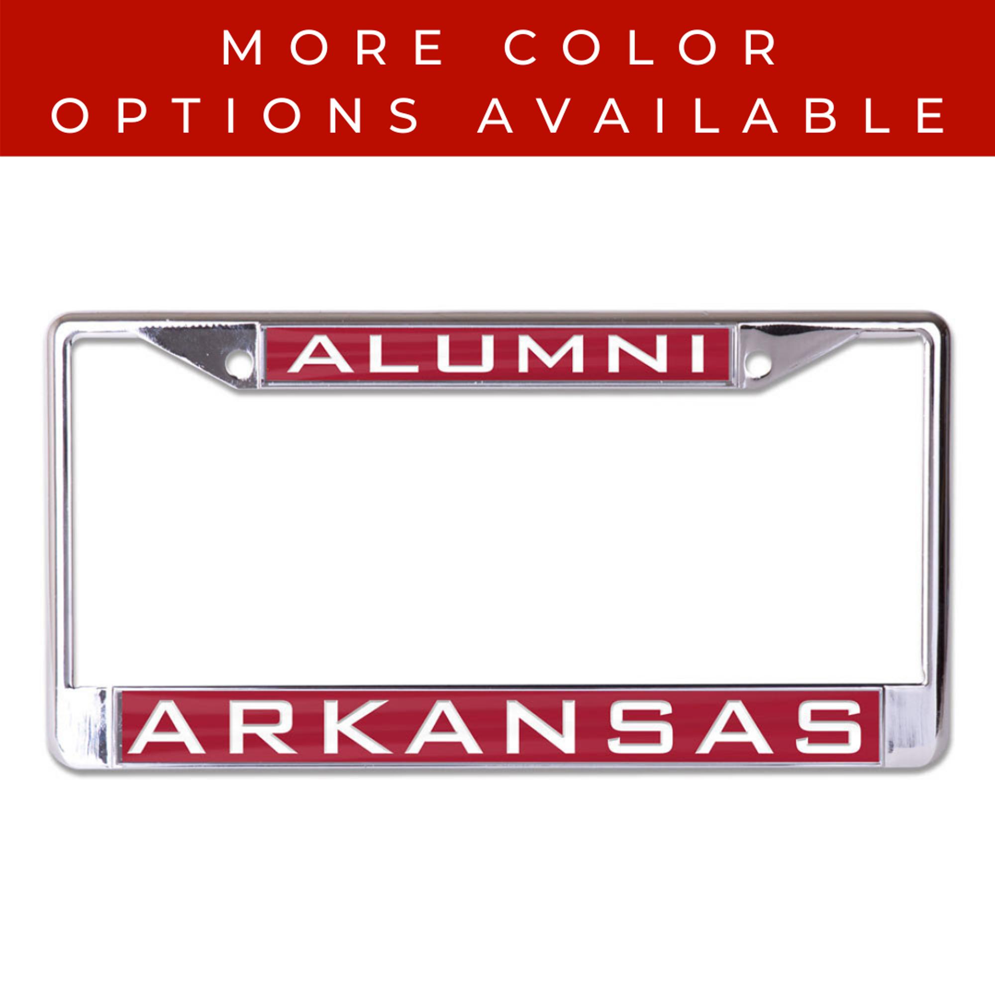 image of: Arkansas Razorbacks Alumni WinCraft Laser Inlaid Metal License Plate Frame