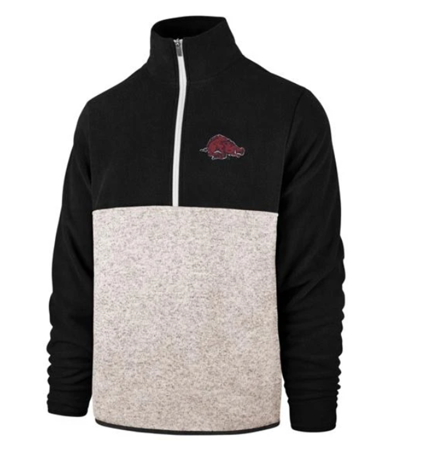 image of: Arkansas Razorbacks '47 Vintage Kodiak 1/4 Zip Jacket - Anchor