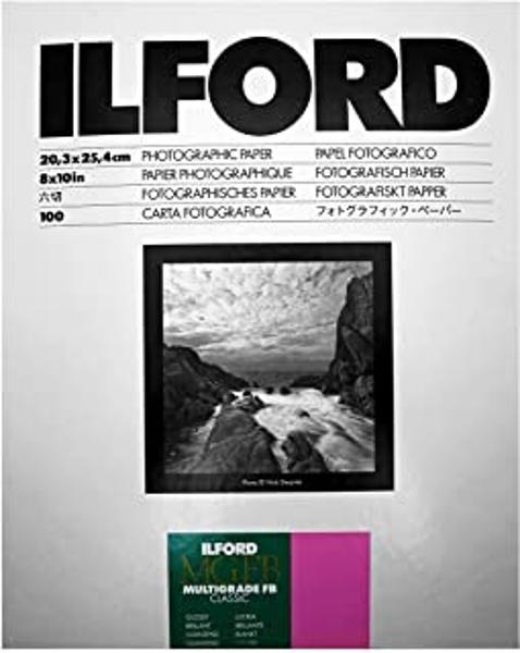 ILFORD 1171983 8X10 FIBER GLOSSY PAPER 100- SHEET