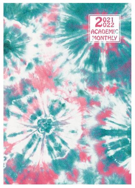 2021-2022 Tie-Dye Academic Monthly Planner 7x10 - Assorted