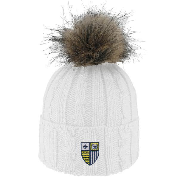 image of: White Faux Fur Hat