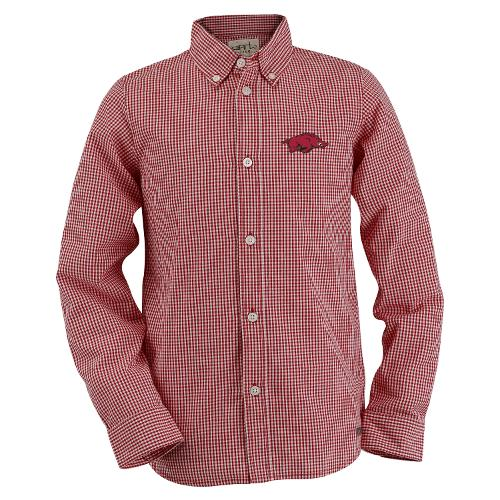 Arkansas Razorbacks Youth Cole Woven Button Down - Crimson