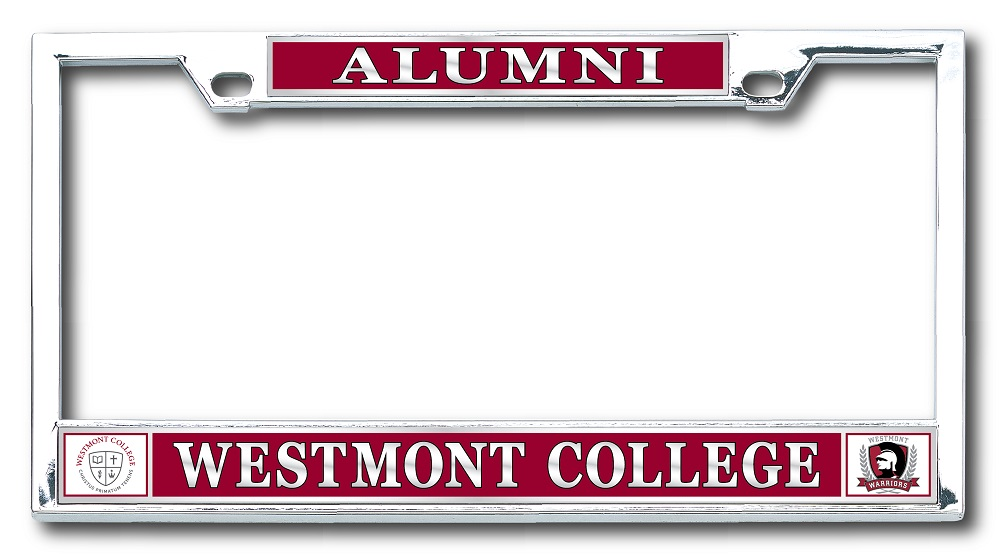 Image for Alumni License Plate Frame w/seal & warriors