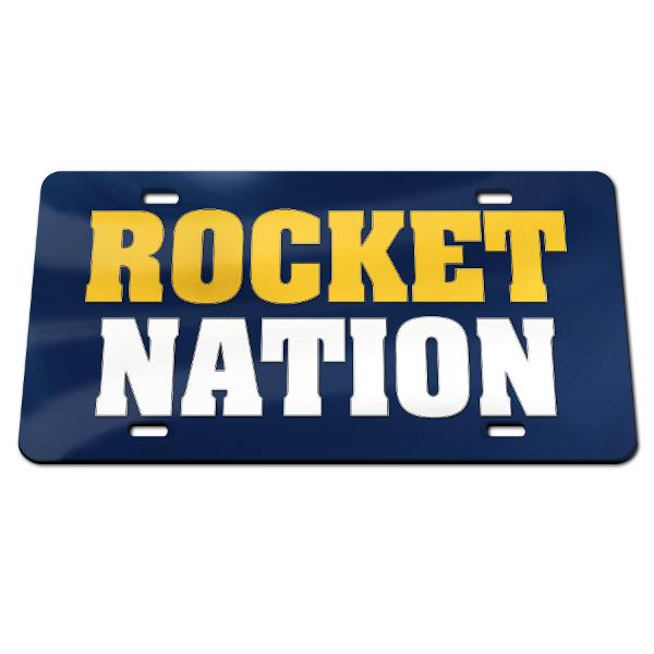 Rocket Nation License Plate