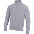 Image for the Heather Grey 1/4 Zip Sweatshirt, Front Side Pockets product