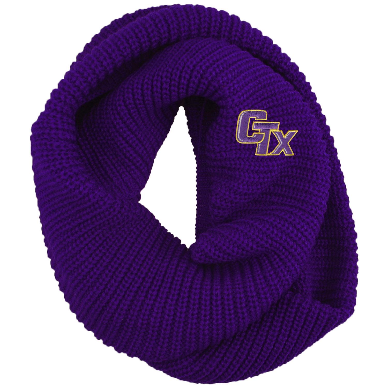 Chunky Knit Infinity Scarf - Purple
