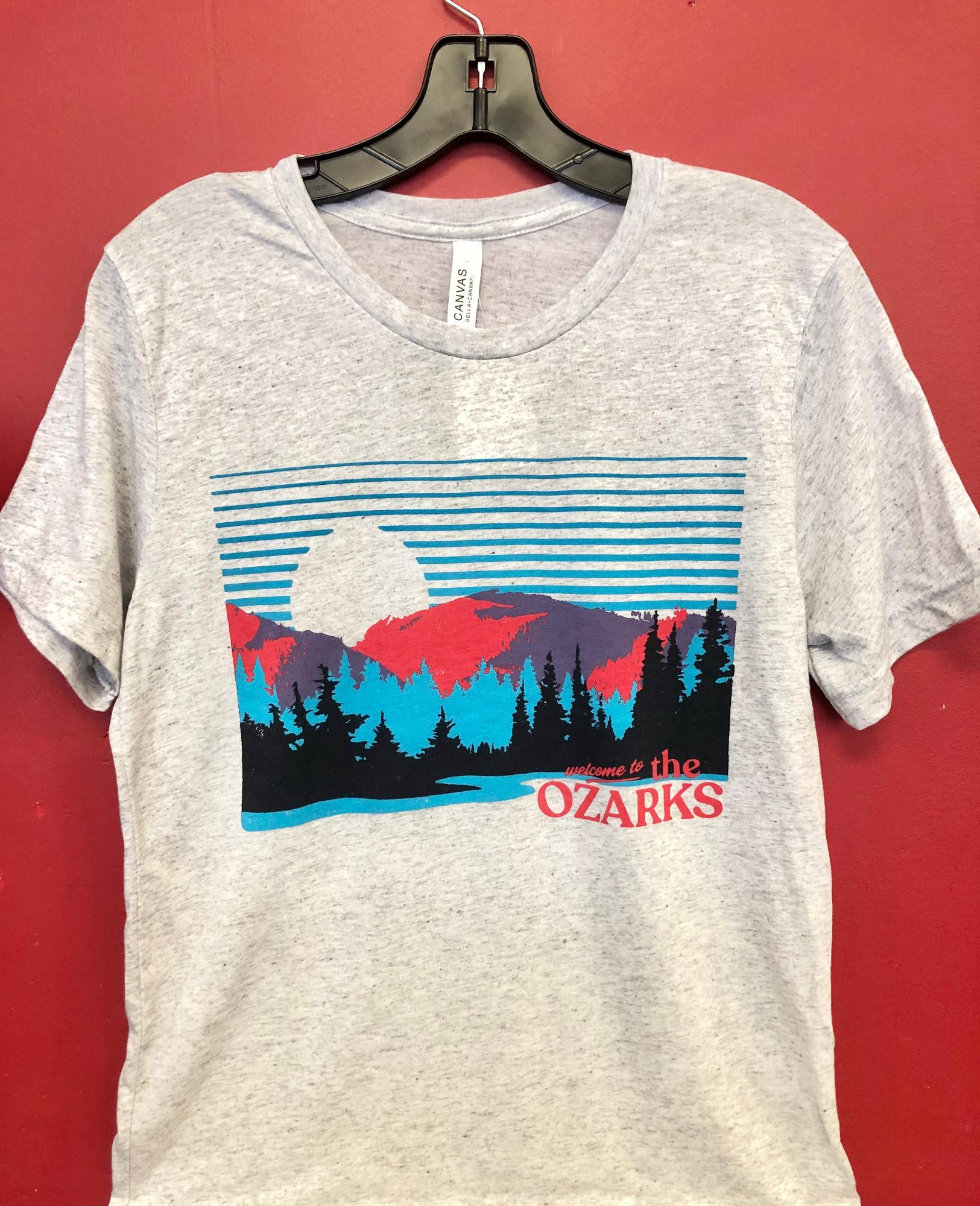 image of: Ozarks Meet Me in the Mountains Tee - White Fleck Triblend