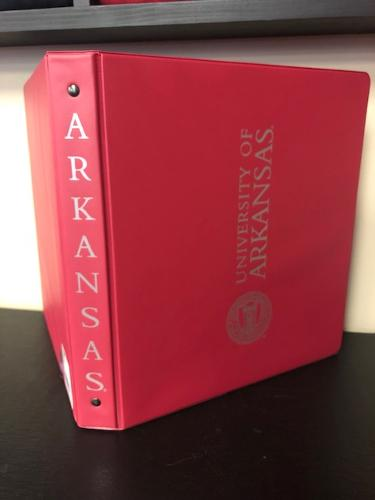 University of Arkansas Samsill Branded 1 Inch Seal Ring Binder - Burgundy