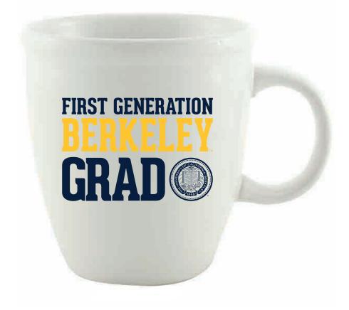 Mug 18oz Mocha First Generation Berkeley Grad UCB Seal