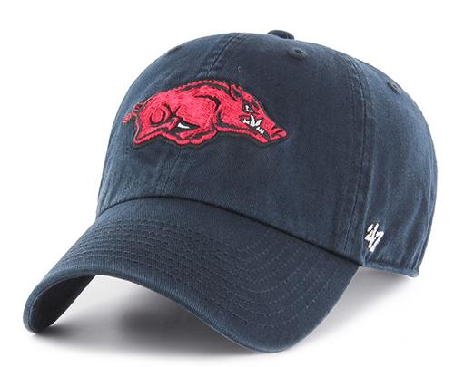 Arkansas Razorbacks '47 Brand Clean Up Hat - Navy
