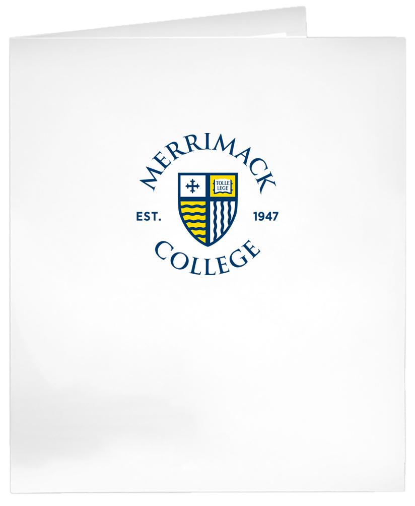 image of: White Laminated Circle Shield Logo Folder