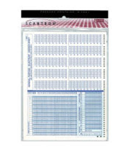 Scantron Form 4521- 6 Pack