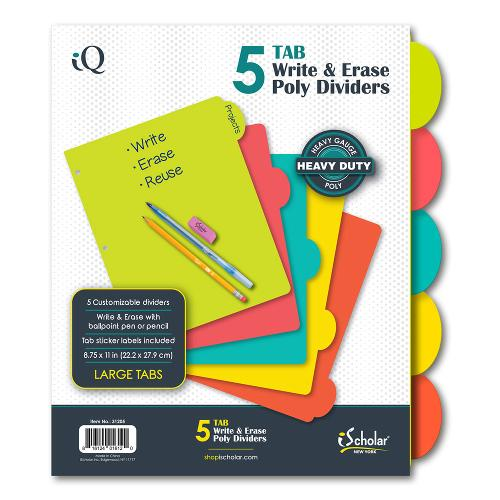 iScholar 5 Tab Poly Dividers