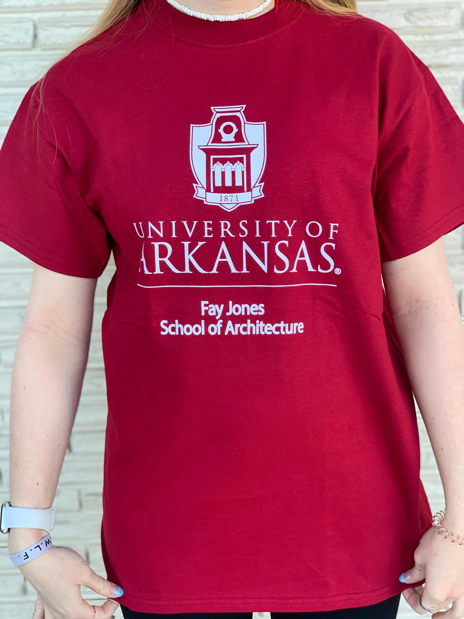 image of: University of Arkansas Fay Jones School of Architecture Tee - Crimson