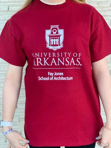 University of Arkansas Fay Jones School of Architecture Tee - Crimson