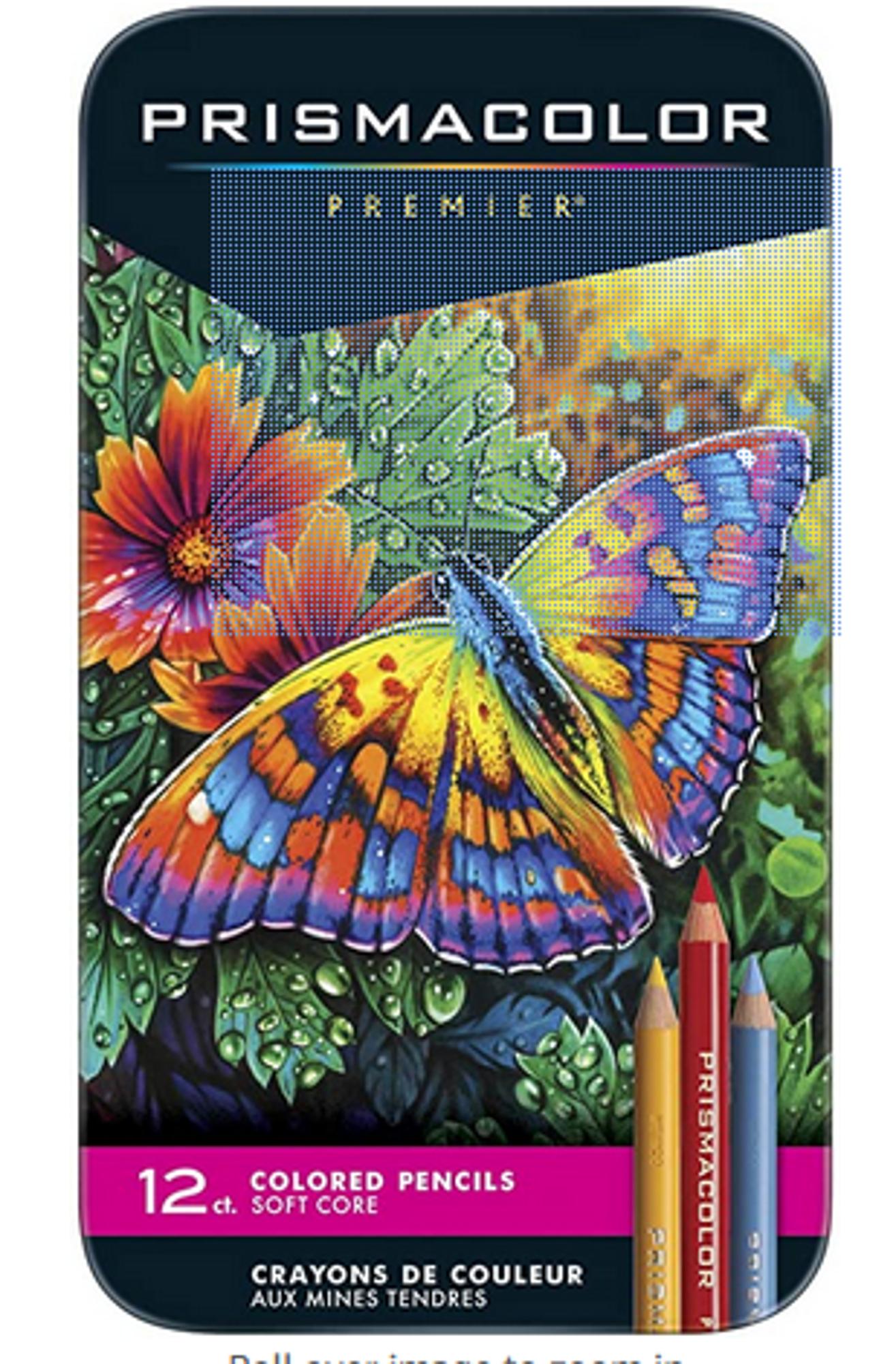 image of: Prismacolor 3596T Premier Colored Pencils, Soft Core, 12 Count