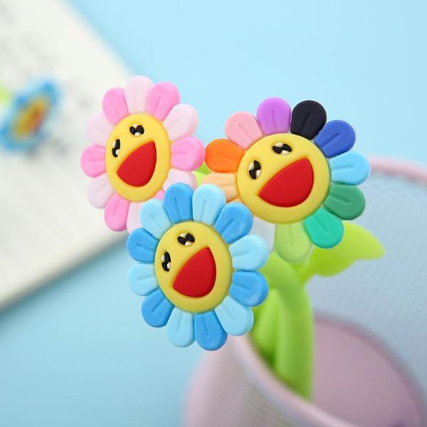 bcmini Sunshine Rainbow Flower Gel Pen Assorted