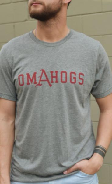 Arkansas Razorbacks Baseball Omahogs Triblend Short Sleeve Tee