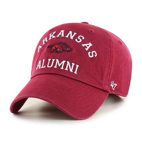 Arkansas Razorbacks '47 Brand Archway Alumni Clean Up Hat - Cardinal
