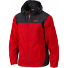Image for the Men's Red Waterproof Jacket with Zipper Pockets product