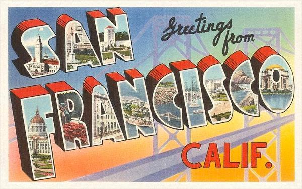 SF-41 Greetings from San Francisco, California - Vintage Image Postcard