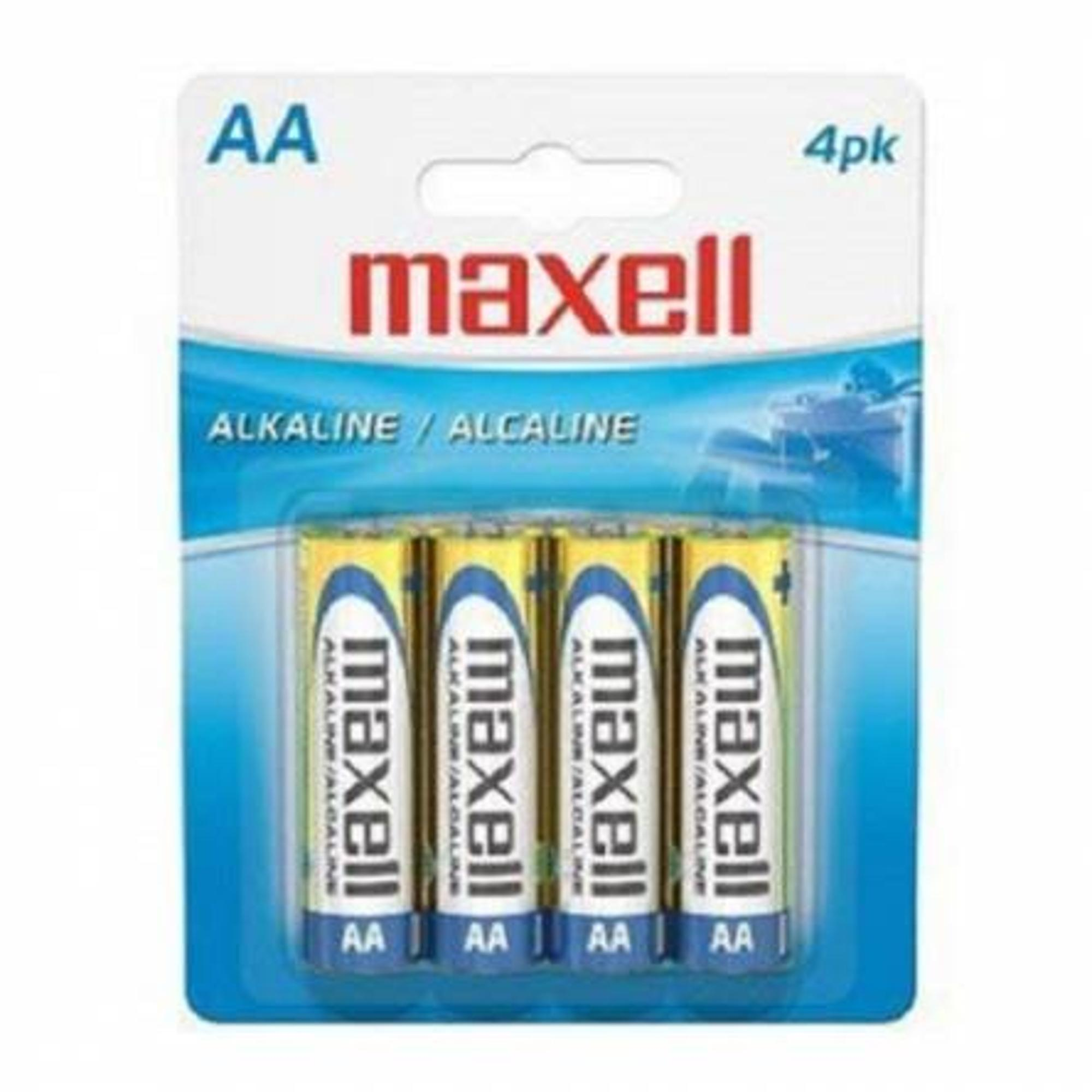 image of: Maxell AA Alkaline Batteries (4 pack)