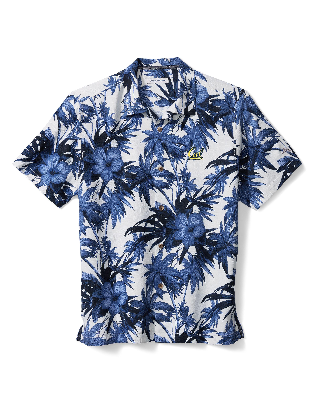 M Island Hibiscus Silk Camp Shirt