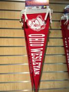 """Image for the Red and White Felt Pennant 9""""x24"""" product"""