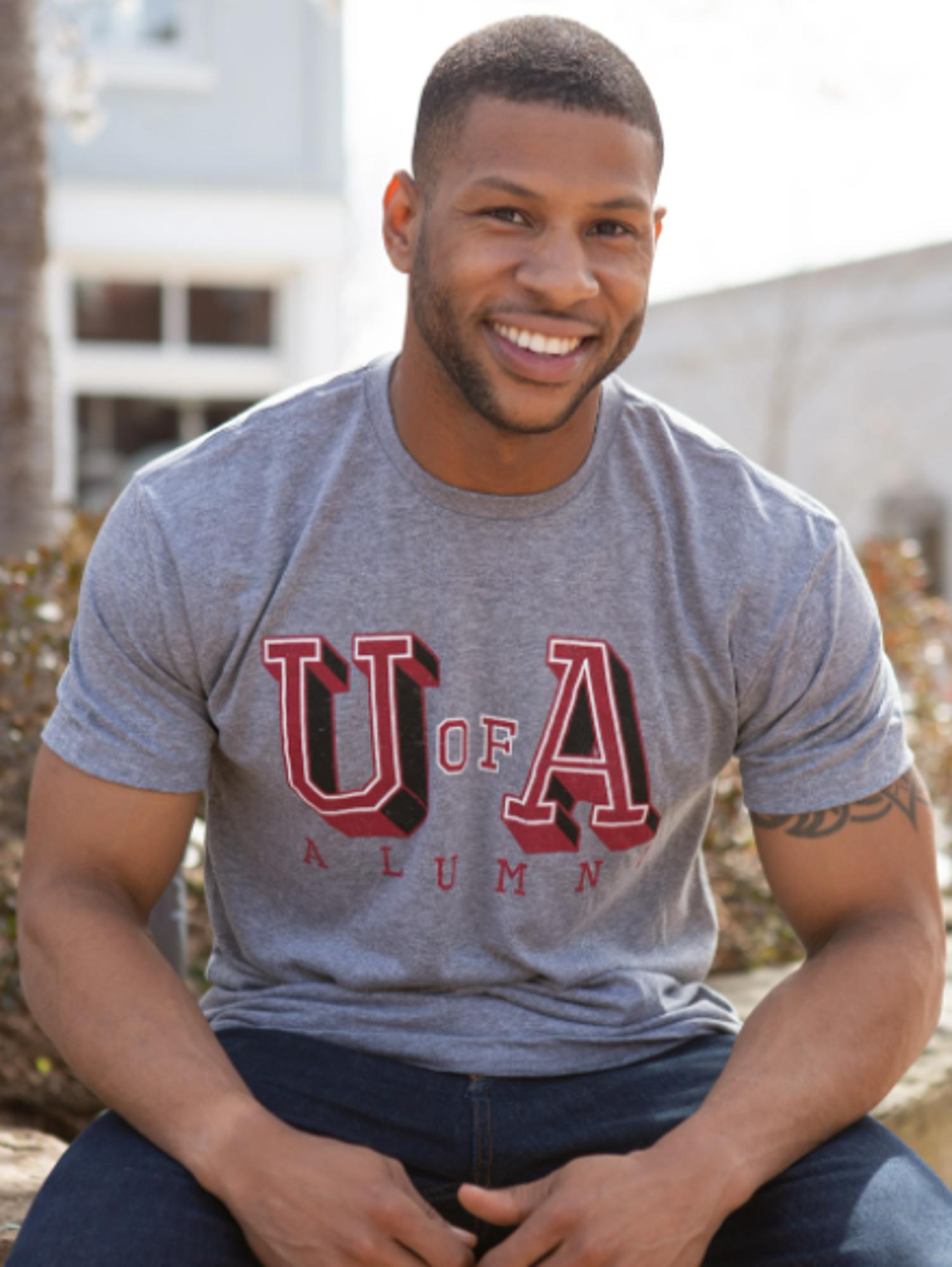 image of: University of Arkansas Alumni T-Shirt - Premium Heather Grey