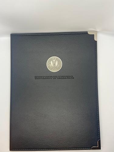 University of Arkansas Silver Seal Black Padfolio