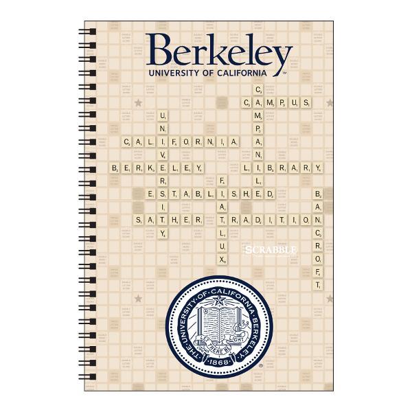 Cal x Scrabble Spiral Journal