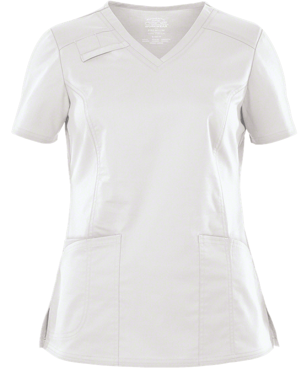 White Scrub Top (Womens)