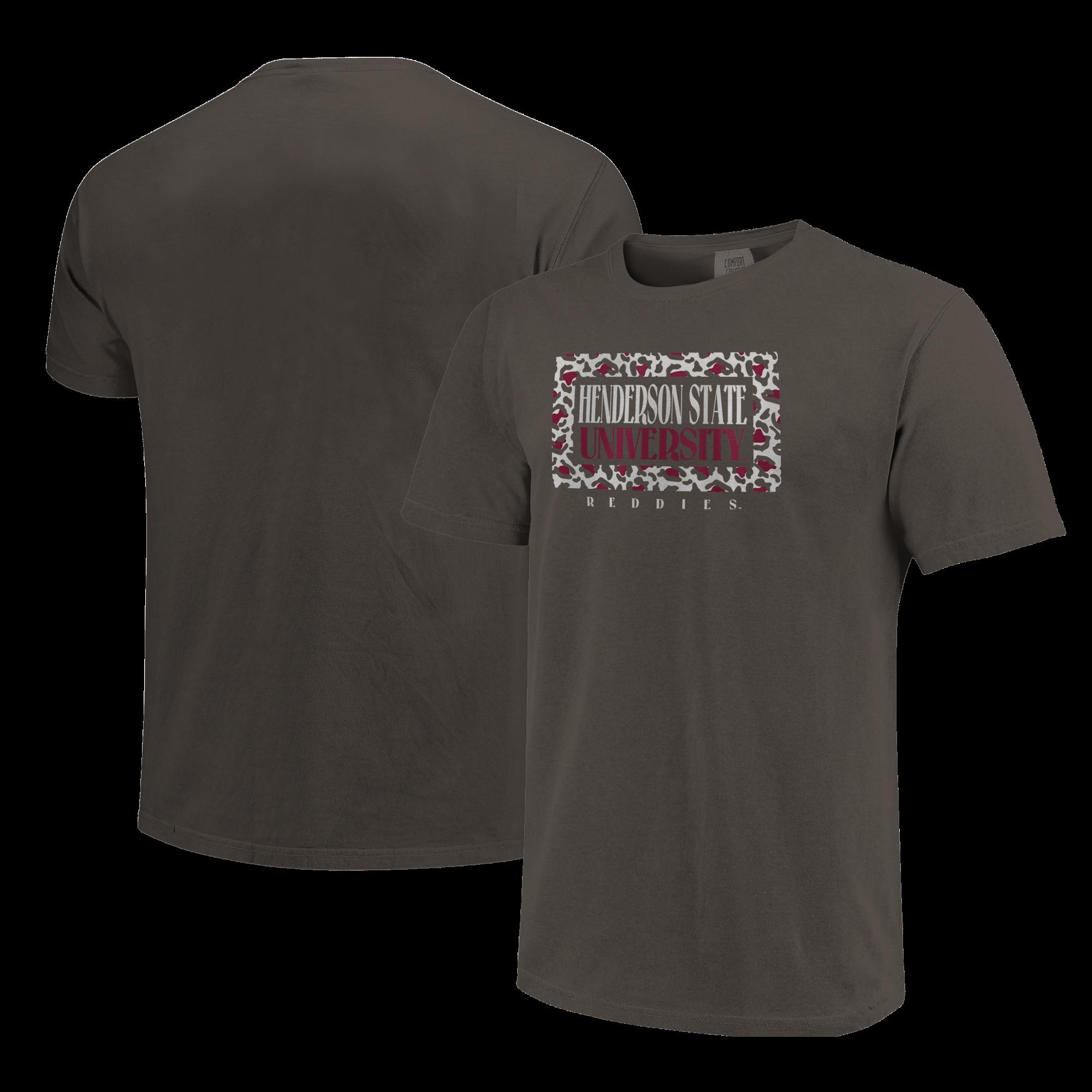 image of: HSU Reddies Framed Pattern Short Sleeve T-Shirt