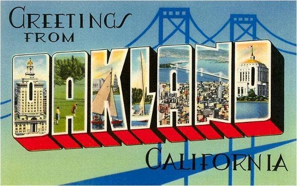 BA-33 Greetings from Oakland, California - Vintage Image Postcard