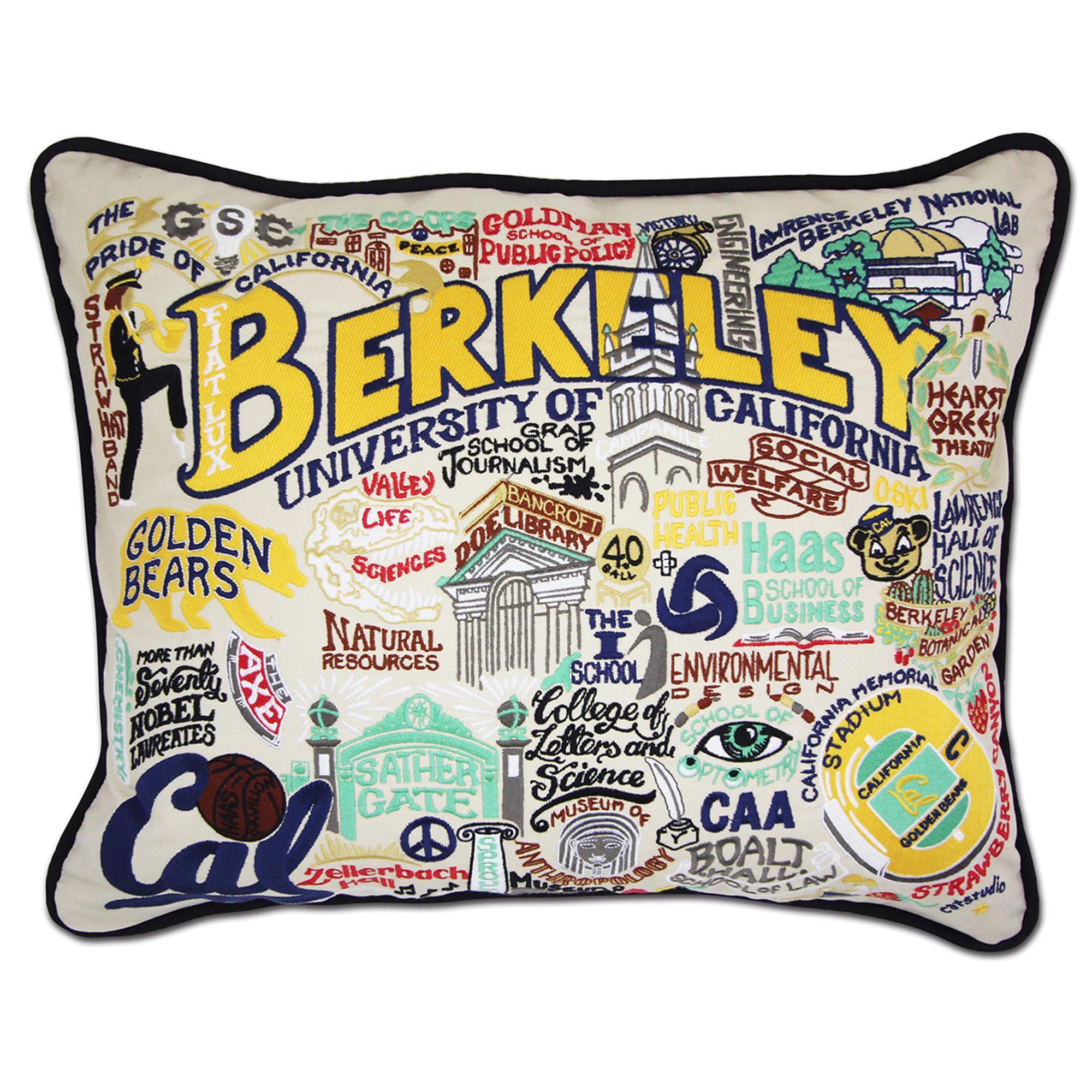 Image for Catstudio Embroidered Berkeley Throw Pillow