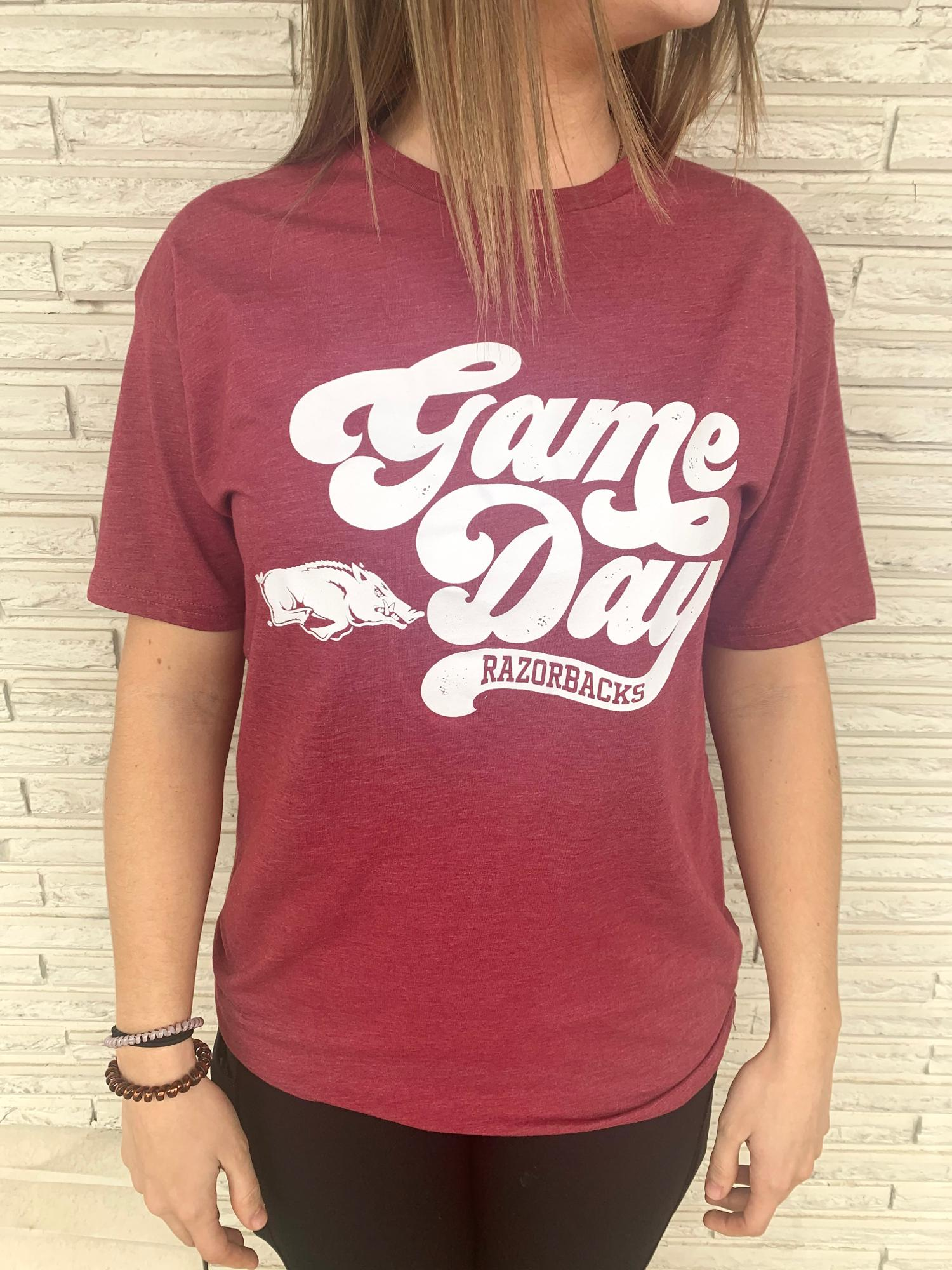 image of: Arkansas Razorbacks Retro Gameday SS Tee