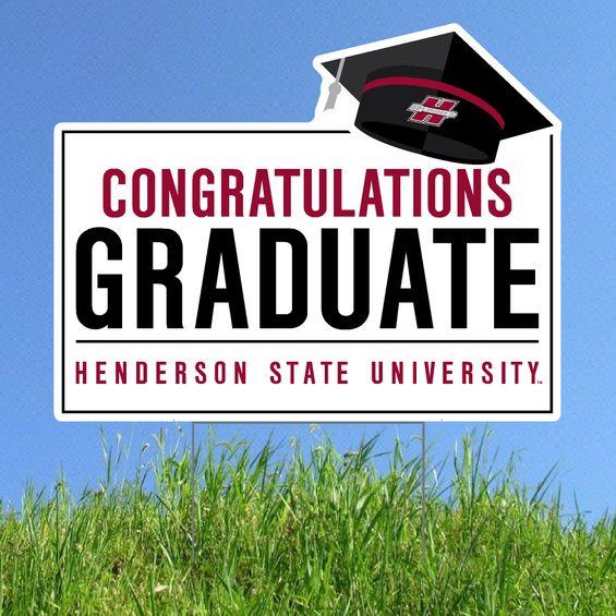 image of: HSU Congratulations Graduate Lawn Sign