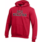 Image for the Unisex Red Hooded Sweatshirt with Pocket product
