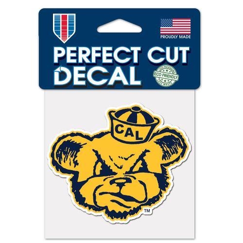 "Cal Bears Vintage Oski Perfect Cut Color Decal 4""x4"""