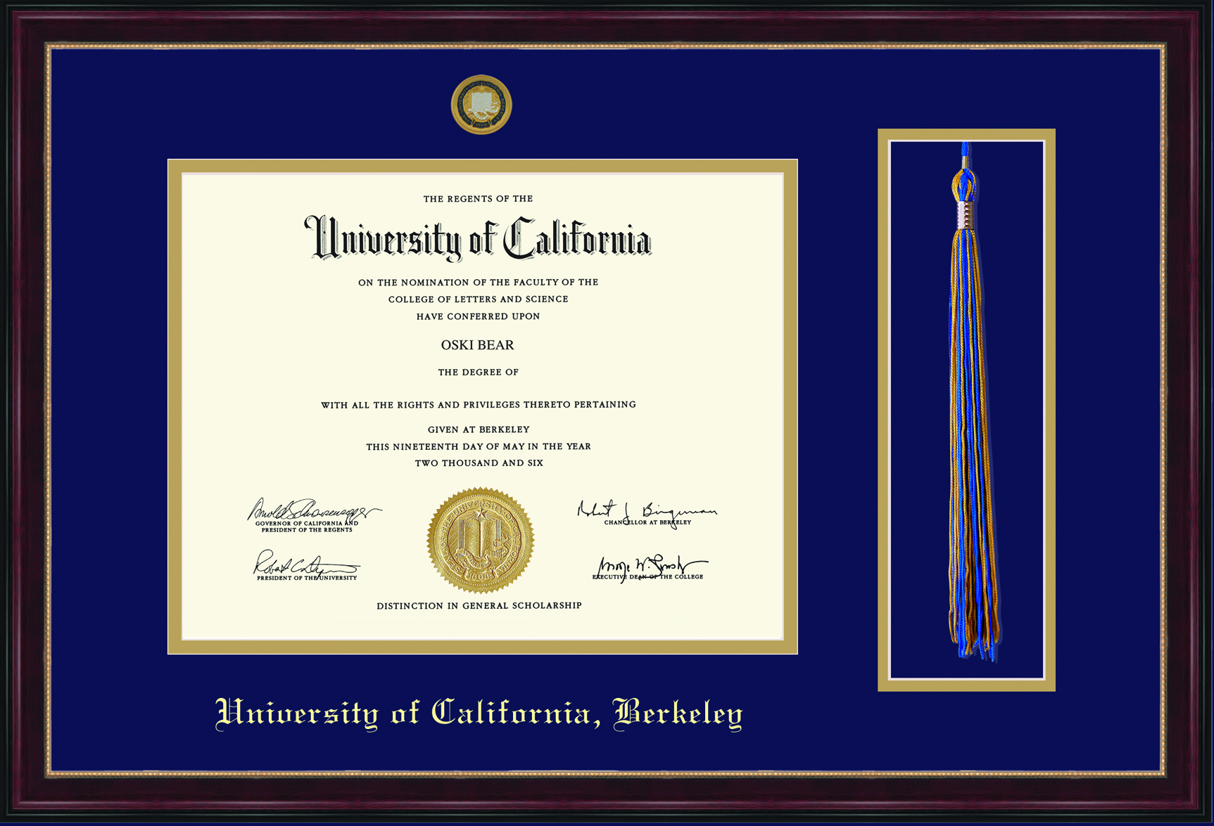Diploma Frame Sienna Tassel
