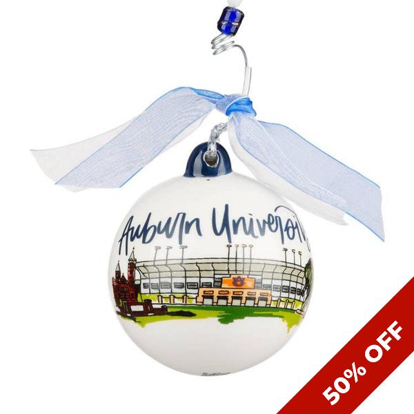 Glory Haus Auburn Landmark Ball Ornament