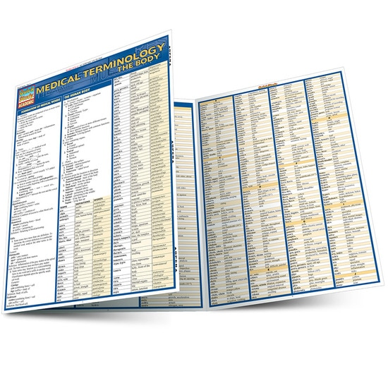 MEDICAL TERMINOLOGY: THE BODY LAMINATED STUDY GUIDE