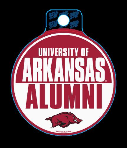 Arkansas Razorbacks Alumni Slam Circle Sticker - Red