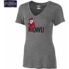 Image for the Women's V-Neck T-Shirt Gray with Bishop product