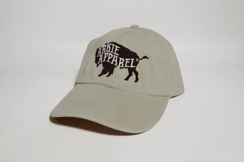 Arkie Apparel Buffalo Logo Hat - Ivory