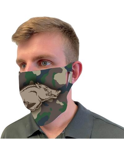 Arkansas Razorbacks Running Hog Fan Mask - Camo