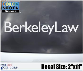 Color Shock Decal Berkeley Law
