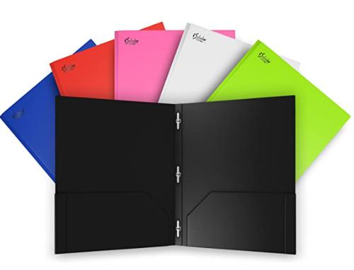 Twin Pocket Premium Poly Portfolio with Prongs