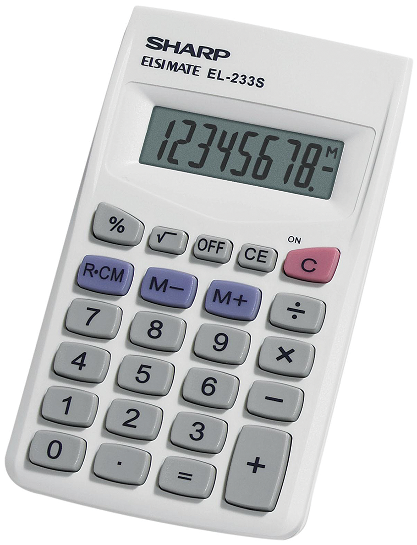 image of: Sharp EL-233SB Handheld Calculator