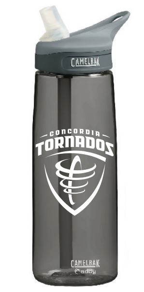 Detailed image of Eddy CamelBak 25 oz. Mascot Water Bottle - Charcoal